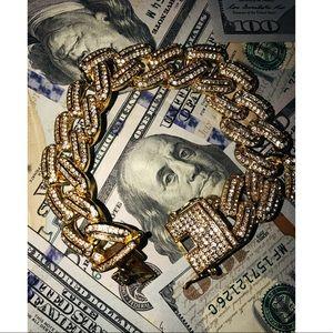 Other - 💎Gold Blast Hip-Hop Style Cuban Link Bracelet💎